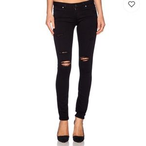 PAIGE Verdugo Ultra Skinny Distressed Black Shadow
